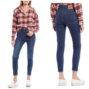Levi's high rise wedgie skinny jeans NWT 28
